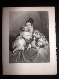 After Parris 1846 Antique Pretty Lady Print. Household Treasures